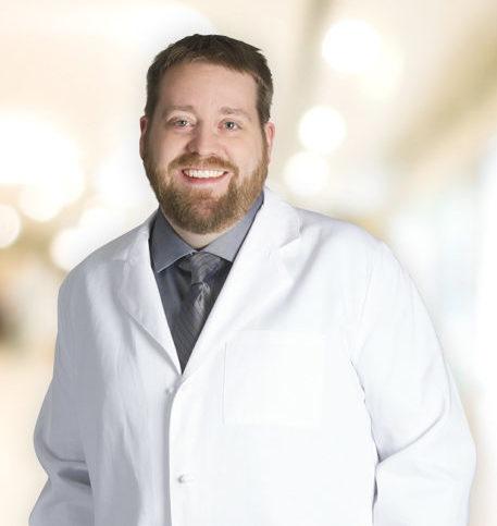 Aaron Hendon, MD lab coat photo