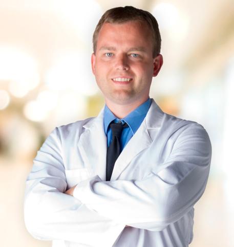 Adam Bryant, MD lab coat photo