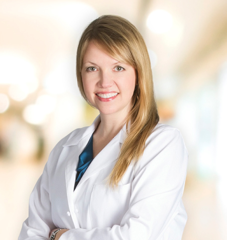 Karolyn Davidson, MD lab coat photo