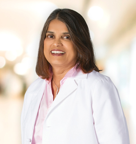 Shobha Desai, MD lab coat photo