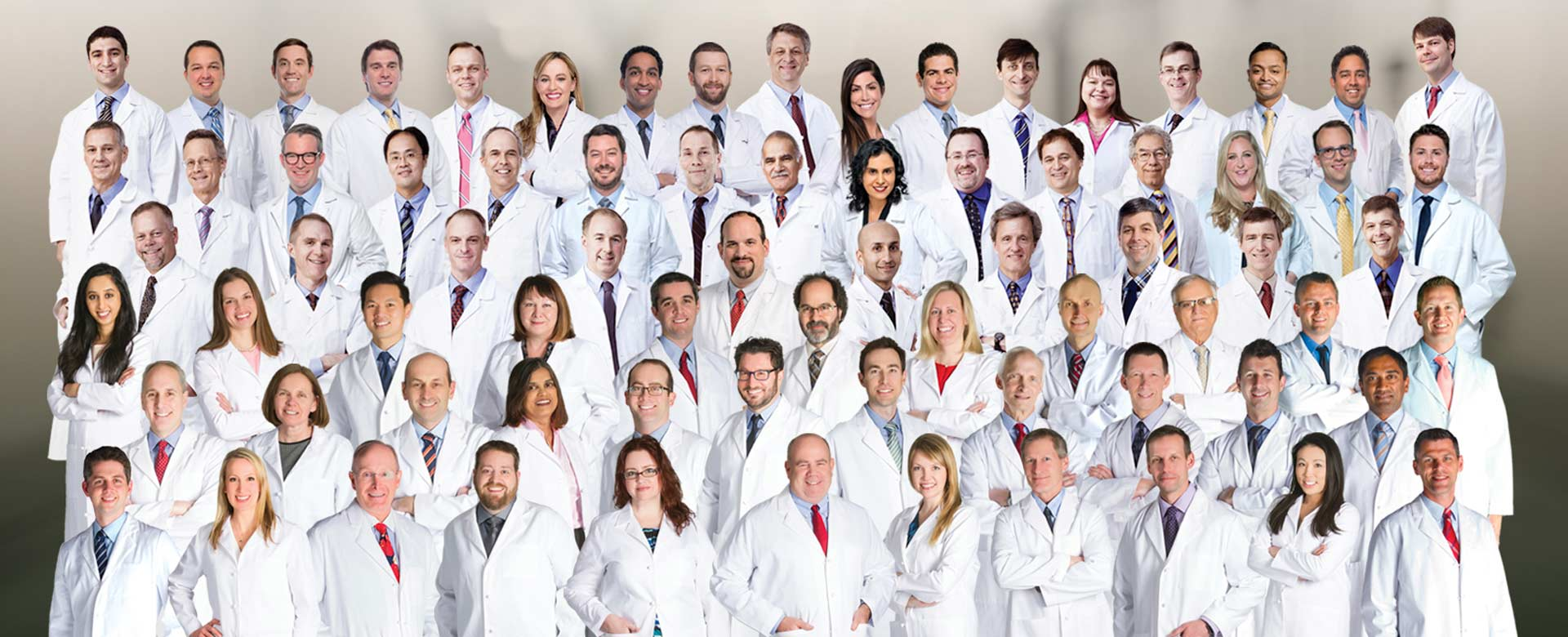 Premier Radiology composite photo of entire group of radiologists